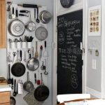 DIY Idea for Small Kitchens – Pegboard Wall Pots and Pans Organizer
