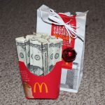 gifts made out of money, diy money gift ideas, folding money for gift giving, gift made of money, diy money gifts, money gift giving ideas, money gift tree holder