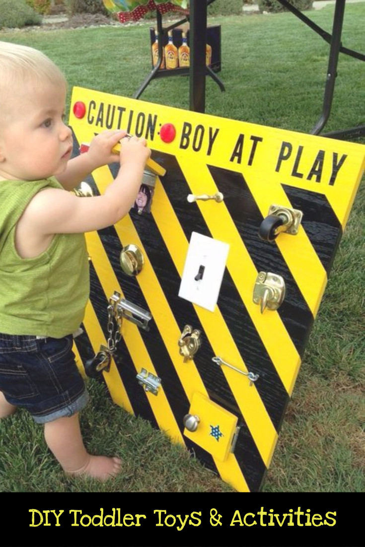 DIY toddler latch board toy idea
