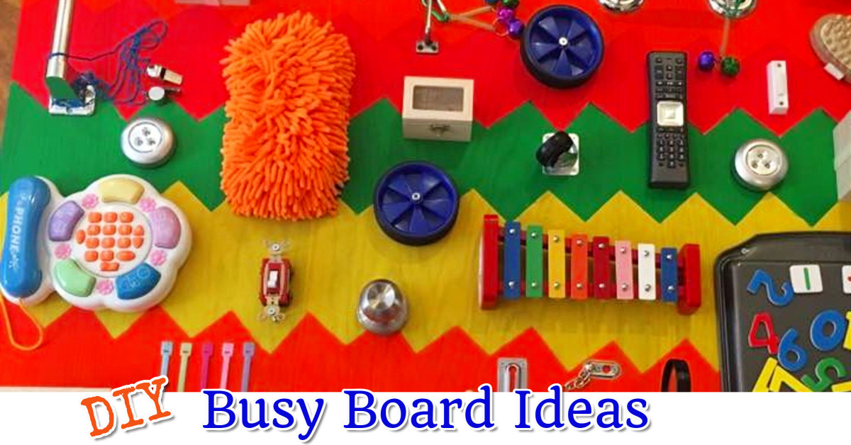 Super cute - and UNIQUE - busy board ideas to make for your toddler.  Great diy sensory board ideas!