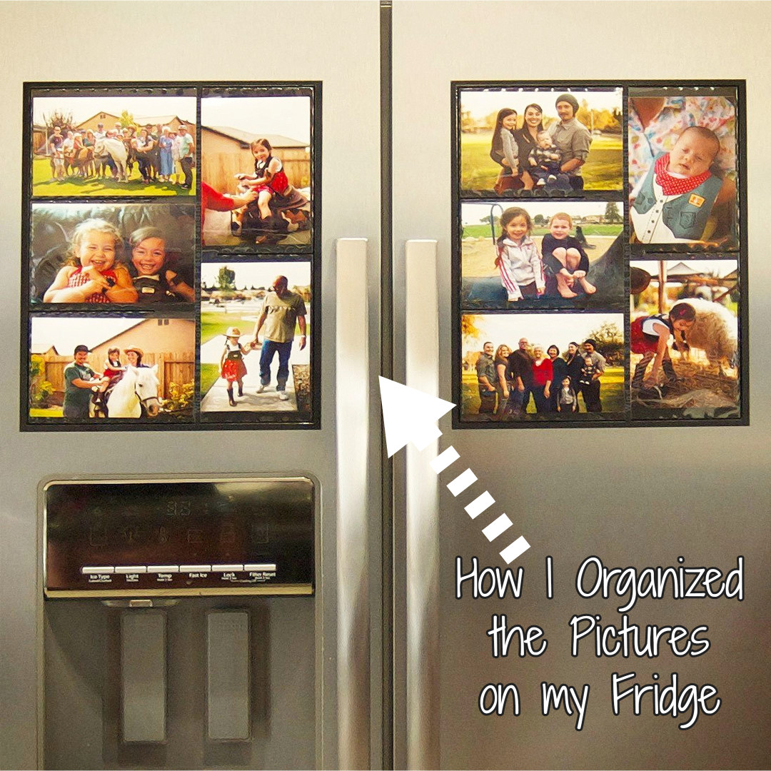 My super simple way I organized all the pictures on my refrigerator and got my fridge clutter-free!