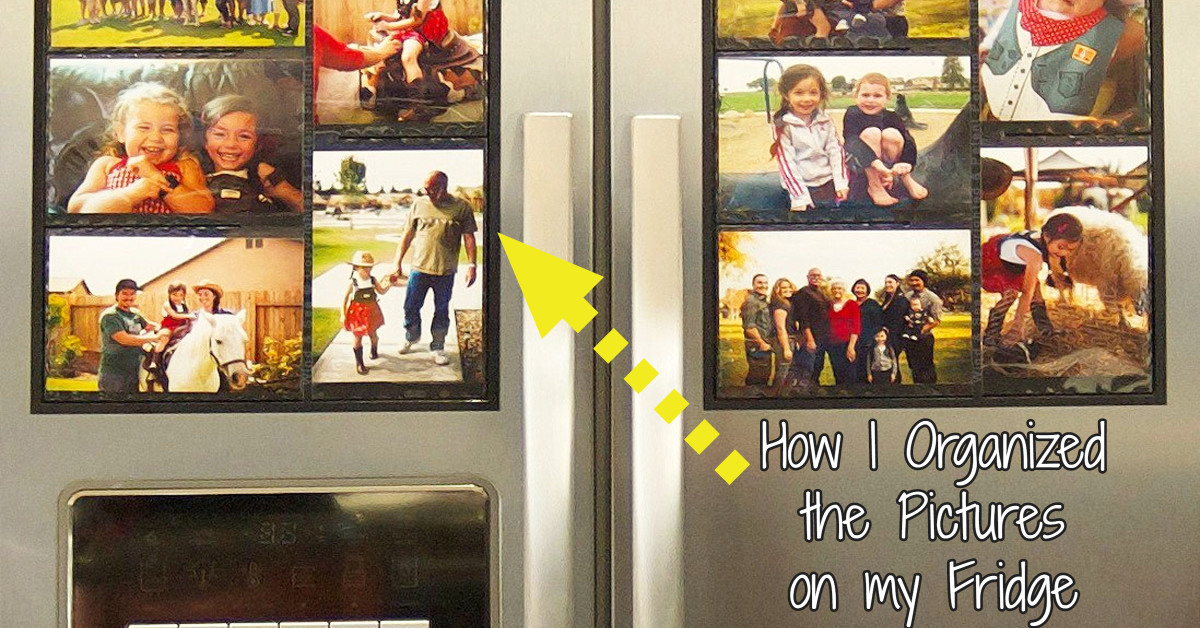 organize refrigerator pictures - DIY ideas to decorate your refrigerator in an organized way