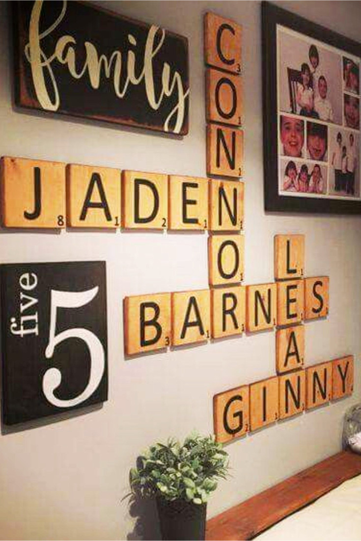 scrabble wall art decorating ideas